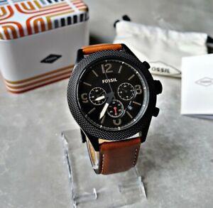 Fossil Herrenuhr Uhr Armbanduhr Chronograph Edelstahl Machine BQ2148