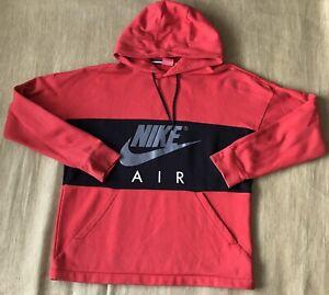 NIKE Air Red & Black Hoody Hoodie Mens Jumper Size L