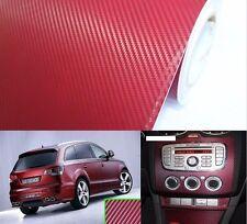 RED 30 x 127cm 3D Auto interior or exterior Wine DIY carbon fiber Vinyl Sticker
