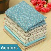 6Pcs Assorted Fat Quarters Bundle Quilt Quilting Cotton Floral Fabric For Sewing