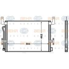HELLA Kondensator, Klimaanlage 8FC 351 306-521