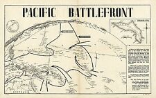 Historic Pictorial Map Pacific Battlefront Kwajalein Atoll WWII Wall Art Poster
