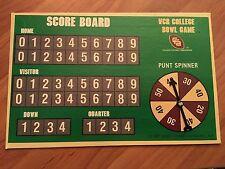 VCR College Bowl Game (SCORE BOARD) 1987 Video Cassette Games, Inc. - Football