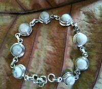 White Howlite Bracelet 925 Silver Tennis Bracelet Bridal Gift Fine Gems Jewelry