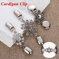 Elegante Kleidung Pin Silber Strickjacke Kragen Clip Pullover Schal Schnalle