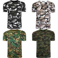 New Mens Military Camouflage Camo T Shirt Army Combat Summer Top Tee