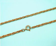 14k Yellow Gold Rope Chain Necklace 18""
