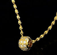 "18k Gold Necklace Womens Large Snake Link 20"" Chain w Gift Pkg D714A"