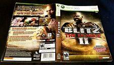 Blitz the League II 2 Xbox 360 Case insert cover art no game