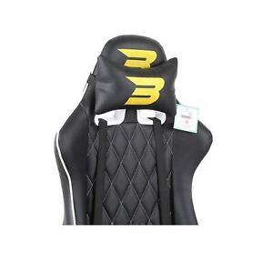 BraZen Phantom Elite PC Gaming Chair - Replacement Seat Back - White