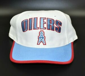 Houston Oilers Twins Enterprise NFL Vintage 90's Snapback Cap Hat - NWT