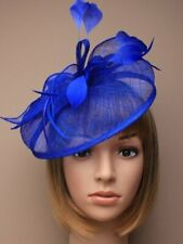 Royal Blue Headband Aliceband Hat Fascinator Weddings Ladies Race Royal Ascot