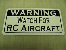 RC AIRCRAFT Metal Sign 4 Airport Air Plane Private Pilot Hanger