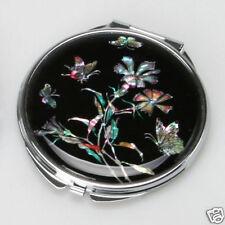 Schminkspiegel Rund Kosmetik Luxus Neu Perlmutt Taschenspiegel Edel