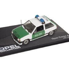 Opel Corsa A Policía police  1:43 coche Eaglemoss Diecast