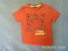 Boys 2-3 Years - Red T-Shirt with Tiger Motif - Cherokee