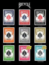 BICYCLE COLOR COLLECTION 9 decks 2 close up pads mats playing cards orange black