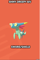 Shiny Dreepy-6iv-(Pokemon-Sword/Shield) 100%Legit! Nintendo Switch