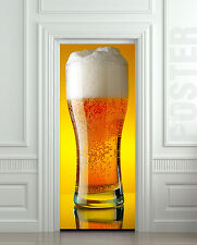 STICKER for door, wall or fridge - beer glass, restaurant