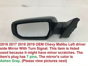 Passenger Side Fits 2008-2012 Chevy Malibu Door Mirror Unpainted