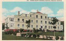 Carbon County Memorial Hospital Rawlins WY Postcard