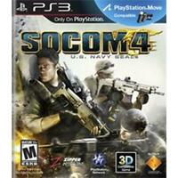 Socom 4 U.S. Navy Seals Playstation 3 Game PS3 Used Complete
