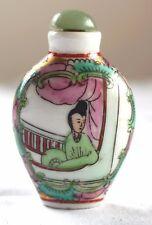 Flacon à Opium - tabatière - Chine - Porcelaine - Milieu XX eme siècle   VO