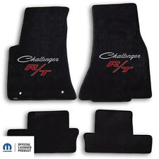 1970-1971 Dodge Challenger 4pc Carpet Floor Mats with RT Logo - Ebony