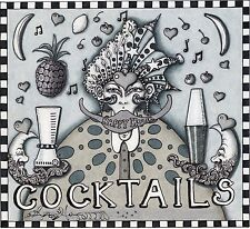 """COCKTAILS""  FINE ART GICLEE PRINT, NEW ORLEANS ARTIST Jamie Hayes, HOME BAR"