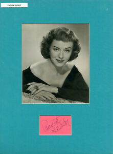 PAULETTE GODDARD • B&W photo with signed card • MATTED • 12X16