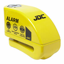 JDC MOTORCYCLE Motorbike Disc Lock ALARM - JAWS - Yellow
