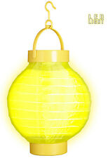 LED Stoff Lampion gelb NEU - Partyartikel Dekoration Karneval Fasching