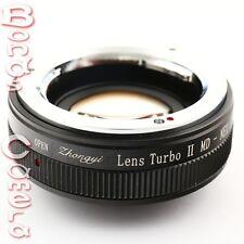 Zhongyi Focal Reducer Booster Turbo II Minolta MD Lens to Sony E Adapter NEX 7 6