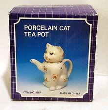 Vintage Artmark Cat Teapot Kitty  Lucky Siamese Style Collectible NIB