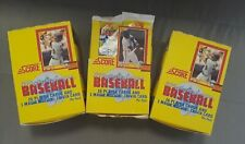 (3) 1990 SCORE BASEBALL WAX BOXES.   SAMMY SOSA / FRANK THOMAS ROOKIE   BO KNOWS