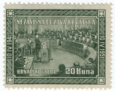 (I.B) Croatia Postal : Government in Exile Issue 20K (Congress)