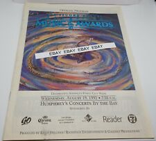 San Diego Music Awards 2nd Annual Magazine August 19,1992 Humphrey's By the Bay