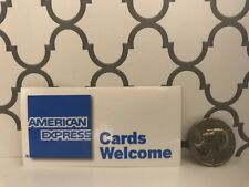 """American Express Cards Welcome Point of Sale Decal 3"""" x 1.5"""""""