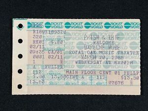 1986 Concert Ticket Stub DePECHE Mode Royal Oak Music Theater