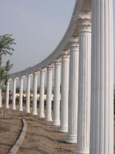 Natural architectural roman corinthian white Marble Column Pillar Pedestals