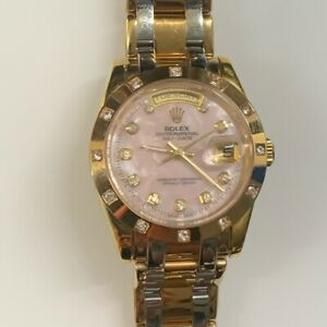 18K Gold Rolex Day-Date with Diamonds