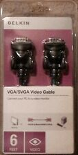 BELKIN 6FT VGA/SVGA VIDEO CABLE - CONNECT PC TO MONITOR *New in box*