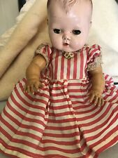 Vintage 12� Tiny Tears Doll Bery Good Condition For Age