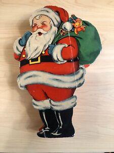 ANTIQUE SANTA CHRISTMAS CHOCOLATE / CANDY CARDBOARD VINTAGE BOX