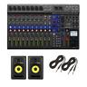 Zoom LiveTrak L-12 - 12-Channel Digital Mixer & Multitrack Recorder & KRK RP5...