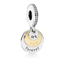 Me You Forever Charm Pendant Heart Dangle Sterling Silver 925 Wife Friend Sister