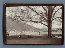 Italia, Lago di Como, Stazione di Villa Olmo  Vintage citrate print. Vintage Ita