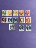 Stamp Mix Germany 1920 Bayern Bavaria Farewell Series DEUTFCHES REICH Overprint