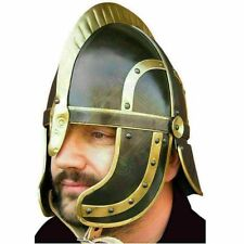 Medieval Knight Fantasy Vandel Brass Helmet Armor Steel warrior halloween gift