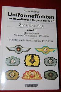 Old German Klaus Walther Spezialkatalog Uniformeffekten MfS, Band II, 1956-1990